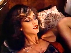 Retro Classic - Gal in Satin Lingerie Pleasing Herself