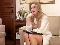 Antique Hairy Mature has a Threesome and DP in Underwear!