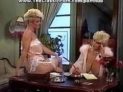 Cock worshipped by retro huge-chested woman