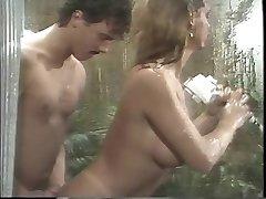 Classic huge-boobed porn queen sucks xxl cock in the shower then fucks