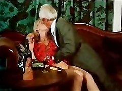 Vintage kissing and smoking scene