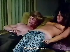 Young Couple Penetrates at House Party (1970s Vintage)