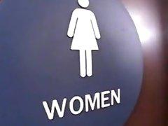 brunette fucked inside toilet