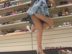 Mi Esposa Panty & Compra De Zapatos Upskirt!