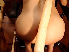 Very long dildo in my ass - Part 2