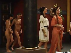Herrin Bestellungen Große Orgie Der Lesbischen Mädchen