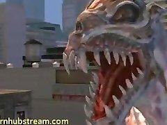 Lumina gets hardcore gang bag from Alien 3D