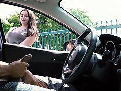 Exhibitionist showing dick girl watches and talks 2