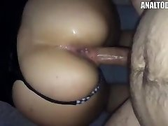 Dirty French Mega-slut Takes It In Both Crevices