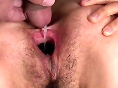 Mischievous asian girl spooge fill & pussy gape