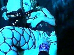 Gothic rocker boning a groupie