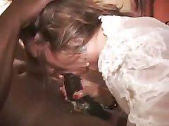 esposa vagabunda de porra de despejo para os negros