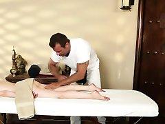 Stunning blonde hottie massaged