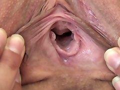 Teen Melina pussy close up