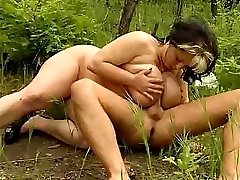 Look what this super-naughty naked duo is doing in the deep woods!