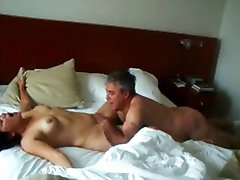 Wife gets pussy lick orgasm