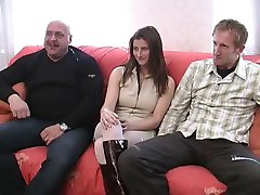 SHE WATCHES A MFM THREESOME
