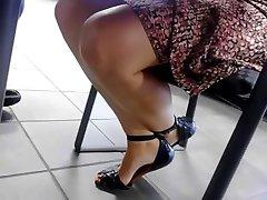 office milf under table spy