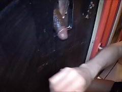 Wife gets pussy pounded by fat BBC at glory hole part 1