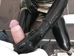 Loving the latex dick play