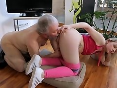 Young small tits Hardcore Old guy and towheaded shaved girl