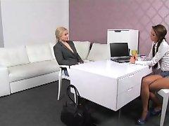 FemaleAgent - Blonde body builder masturbates