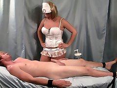 Nurse Handjob: Strapped Down