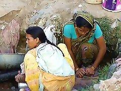 כפר הודי נערה ריגל חיצונית מוסתרים