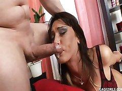 Latina throatfuck