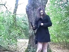 Amatorskie angielski nastolatek wibrator Ekshibicjonista w parku publicznym