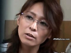 Mature asian woman gets horny talking part3