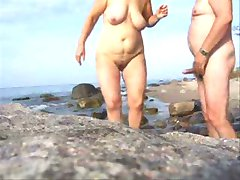 Mature Couple Sex On The Beach-Wear-Tweed