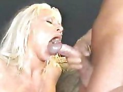 Blonde Bitch In Monster Bukkake
