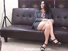 Amateur milf porn casting video