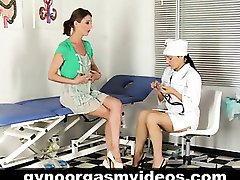 Lesbian gynecologist and her patient