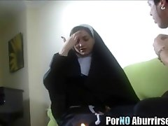 Horny nun goes wild