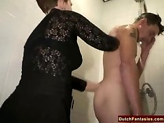 Gross Dutch Granny Fucks Office Guy