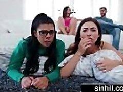 3 Super-hot Nubiles Share One Lucky Pecker - Melissa Moore, Abella Danger, Gina Valentina