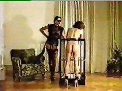 Mistress tortures and brands fresh female slave