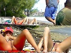 Voyeurchamp.com Exhibitionist Wives Tease Hidden Cam Beach Penises