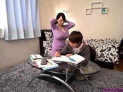 Busty asian teacher huge globes