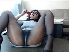 Pantyhose Milf Sexy Pussy Squirting and running in rivulets, Nylon feet fetish.