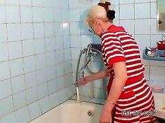 Joy in the bathroom - all varieties of fisting