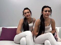 Amateur casting twins
