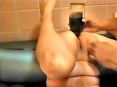 Jam the brandy bottle in anal