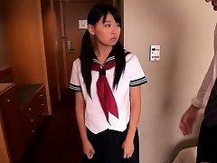 Japanese schoolgirl Airi Sato banged by older masculine