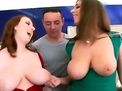 Big Natural Knockers - Redhead And Brunette!!!!!!!