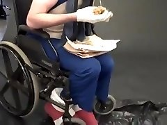 extraordinary fetish - sonic in a wheelchair eating a chili