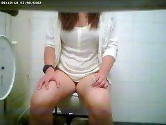 Toilet spy cam filmed a sexy vixen peeing