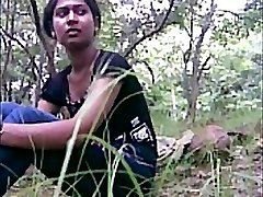 desi girl poked outdoor